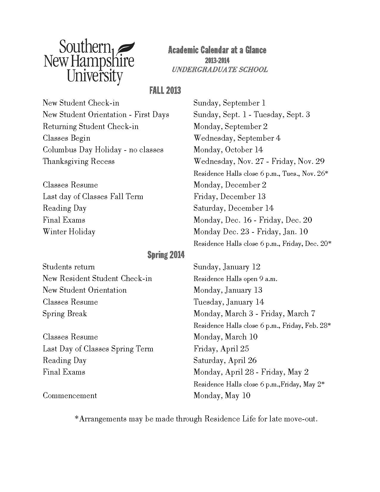 Snhu Academic Calendar.Popular Paper Writing For Hire For College